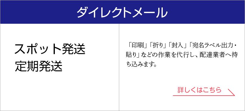 DMダイレクトメール(スポット発送・定期発送)